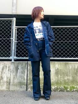 Lee アミュプラザ博多店のMISAKIさんのLeeのカバーオールジャケットを使ったコーディネート