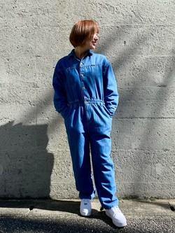 Lee アミュプラザ博多店のMISAKIさんのLeeのジャンプスーツ/デニム オールインワンを使ったコーディネート