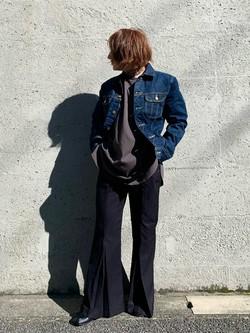Lee アミュプラザ博多店のMISAKIさんのLeeの101J デニムジャケットを使ったコーディネート