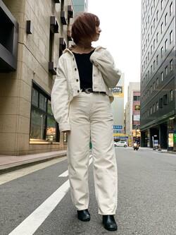 Lee アミュプラザ博多店のMISAKIさんのLeeの【セットアップ対応】STANDARD WARDROBE COWGIRL ジャケット(コーデュロイ)を使ったコーディネート