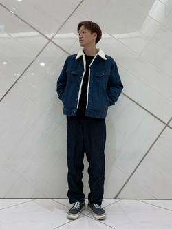 熊本COCOSA店のSHOGOさんのLeeのBOA STORM RIDER ジャケット【コーデュロイ】を使ったコーディネート