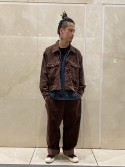 札幌パセオ店のgenさんのLeeの【トップス15%OFFクーポン対象】【セットアップ対応】チェトパ ジャケットを使ったコーディネート