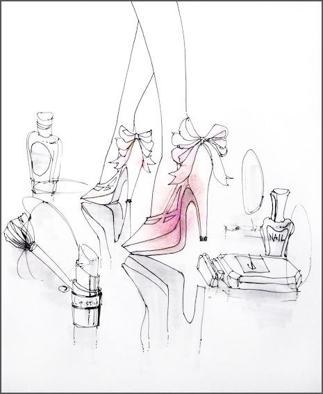 男性のための女性ファッション用語講座 Part2:サンダル編(オリジナルイラスト)