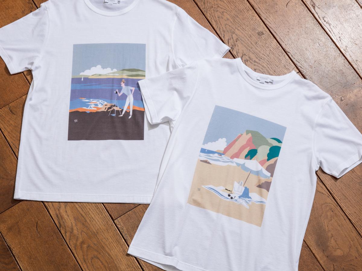 「サンスペル」とコラボした、ノスタルジックなTシャツ