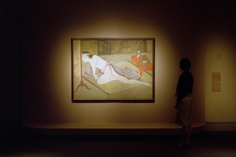 日本画や中国画の要素を、独自の方法でブレンド