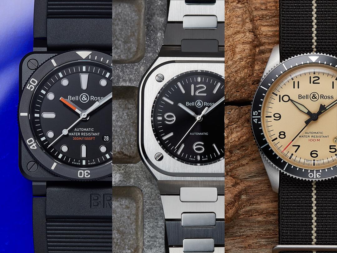 異なるスタイルで腕元を彩る、ベル&ロスの腕時計3選。