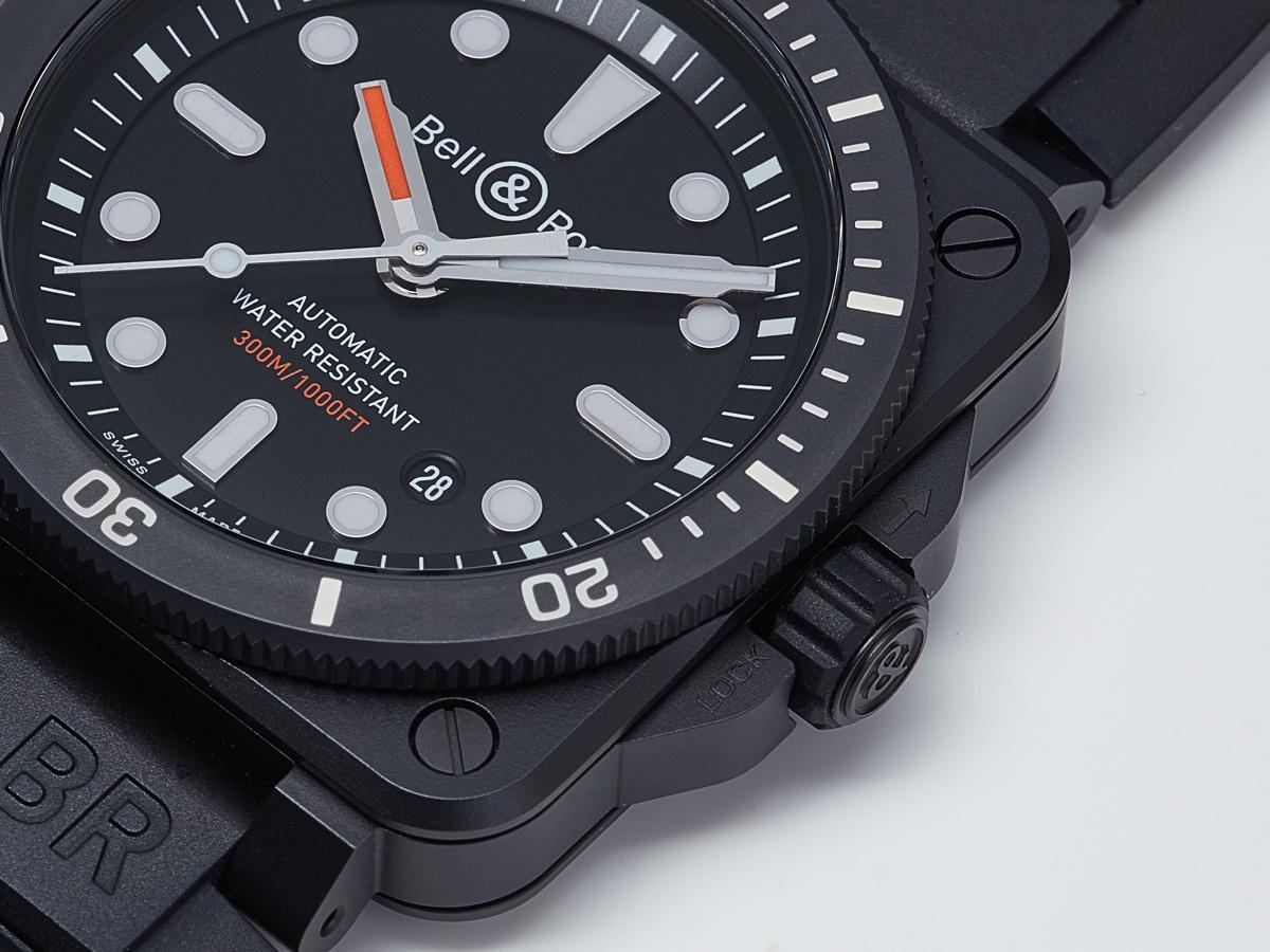 より深く、海の世界にチャレンジする「BR03-92 ダイバー ブラック マット」