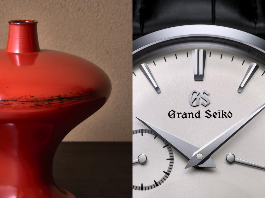 【グランドセイコー、美しき「時」を伝える腕時計。】Vol.6 村瀬治兵衛の漆芸と重なり合う、優雅な造形美。