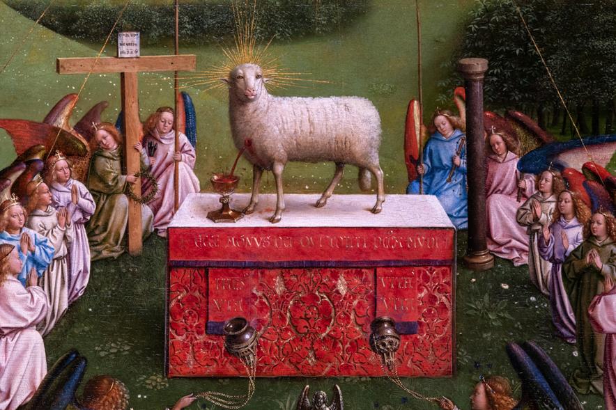 修復後、最も話題を呼んだ子羊の顔。