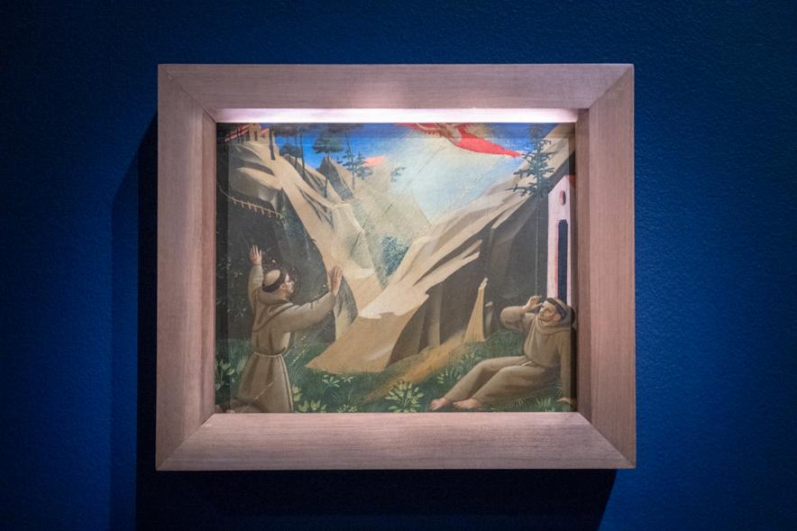 同時代の画家の作品とファン・エイクの絵画を見比べる。