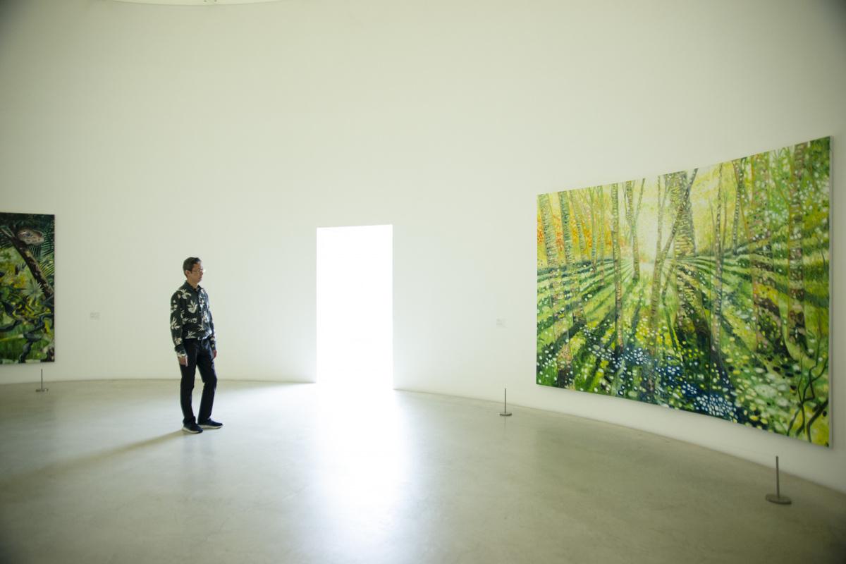 金沢21世紀美術館『大岩オスカール 光をめざす旅』展で、あふれる色彩や光に包まれる。