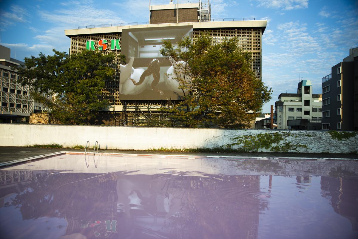 岡山市の中心部が一つの巨大なアート展会場に