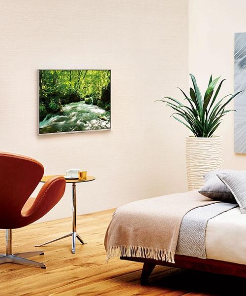 寝室などのプライベート空間にも、ゆとりを創出する。