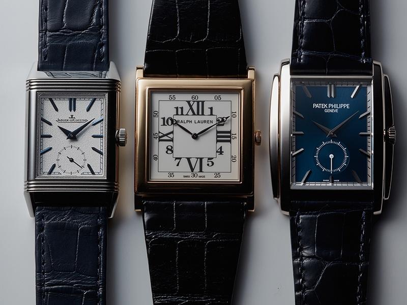 フォルムに確たる意志を込めた、角形腕時計に注目せよ。