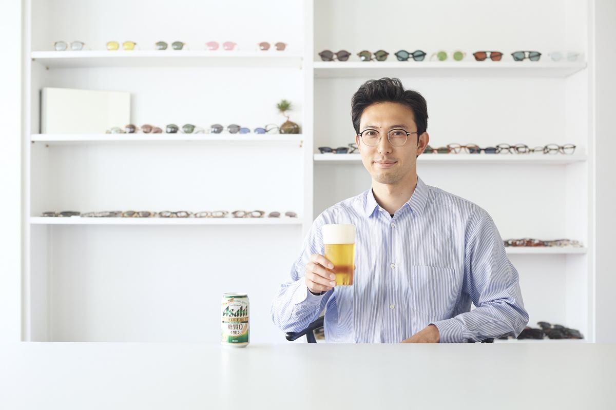 確かな満足感の「アサヒ スタイルフリー<生>」、アイウェアブランド「ayame」の今泉悠さんが飲みたい時は?