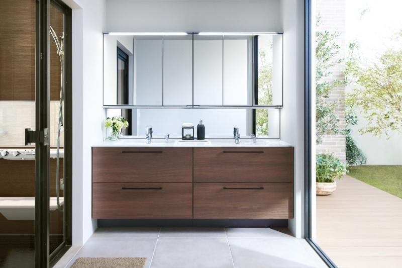 カスタマイズ性と上質なデザインで、理想の洗面空間を実現。