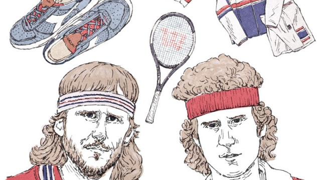 好敵手、ボルグとマッケンローがテニスウエアをファッションアイテムに変えた。