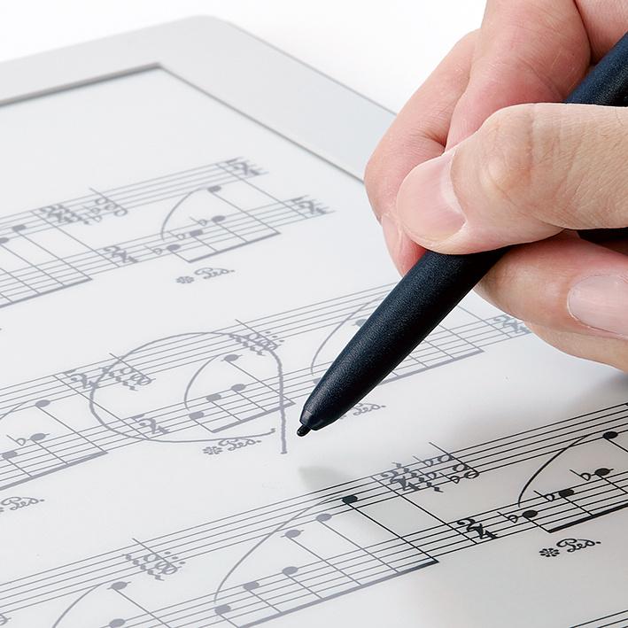 演奏家を華麗にアシストする、デジタル楽譜。
