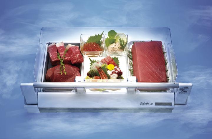 潤う低温で 鮮度を保つ、 食材の理想郷。