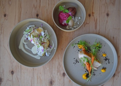 目黒通りのランドマーク「CLASKA」のカフェが、素材を味わうフレンチレストランにリニューアル!