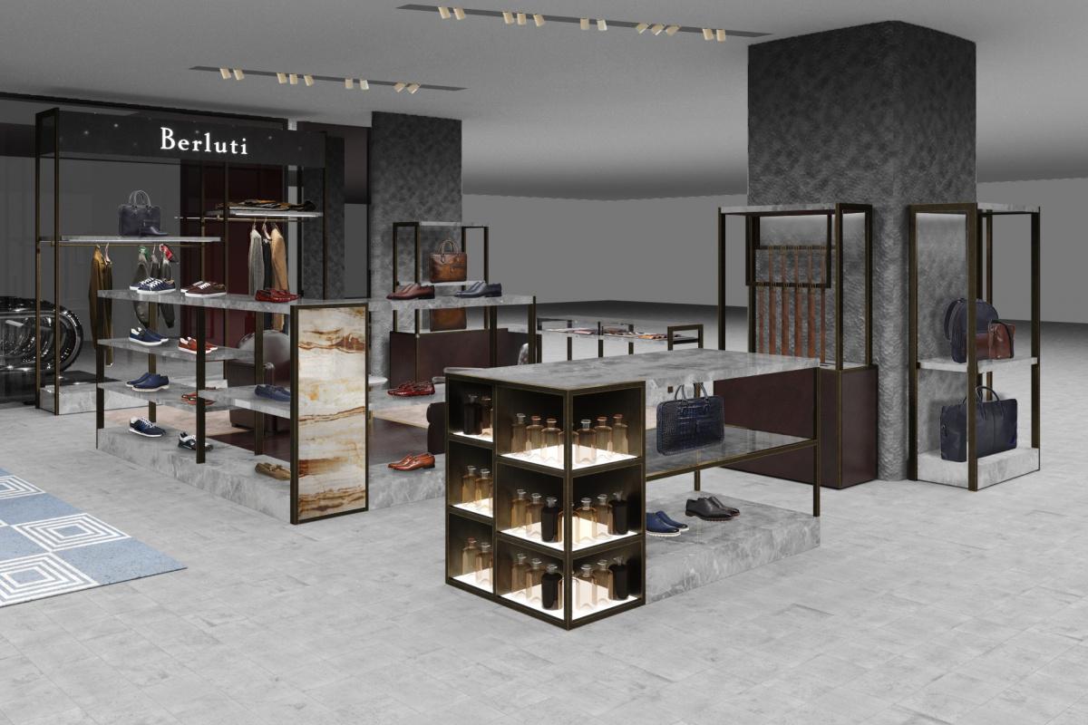 伊勢丹新宿メンズ館に「ベルルッティ」の新店がオープン。深い藍色を纏った、特別な定番アイテムが登場!