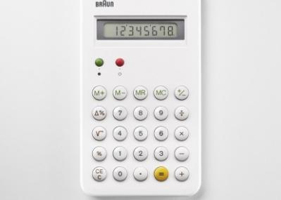 幻の白バージョン! 「ブラウン」の名作電卓「ET55」の復刻モデルを見逃すな。