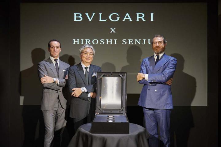 「ブルガリ」が日本画の巨匠とコラボして、「滝」を描いた超薄型アートピースが誕生!