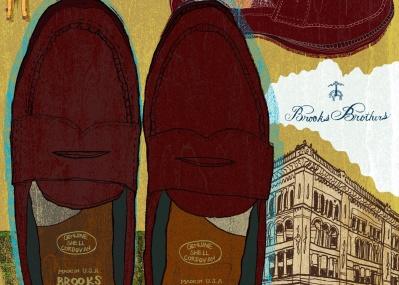 NY土産で手に入れた、「ブルックス ブラザーズ」のローファー。