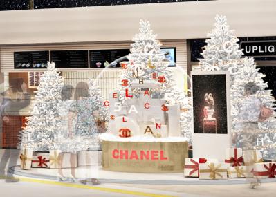 クリスマス気分を盛り上げる、シャネルの巨大スノードームが渋谷に出現!