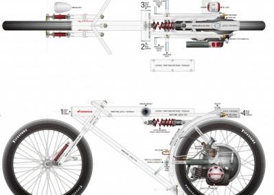 アートになったバイクの最新作は、防犯カメラから出来上がった。