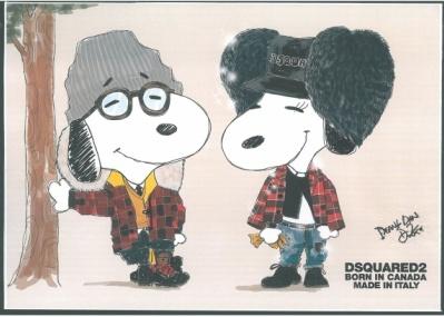 人気キャラクター、スヌーピーと妹ベルが、あの 「ディースクエアード」と夢のコラボ