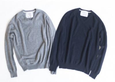 話題のシャツブランド「フランク&アイリーン」がコラボした、上質な限定カシミアニット