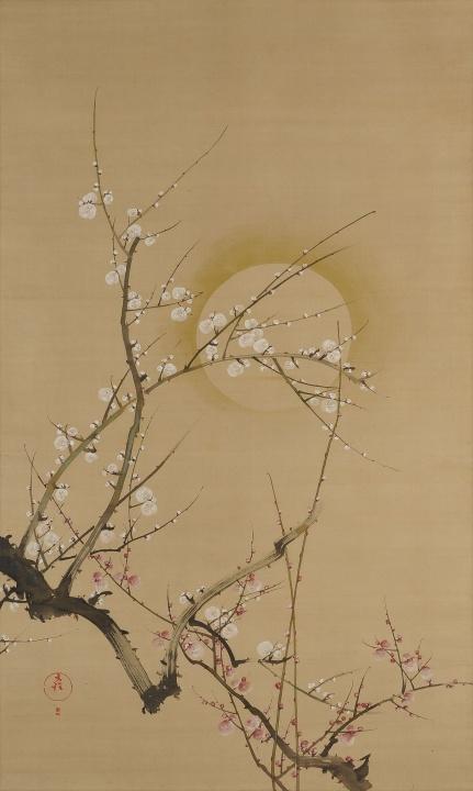 """百花繚乱! 『[企画展] 花 * Flower * 華―琳派から現代へ―』の空間は、ただいま""""画に描かれた花""""満開です。"""