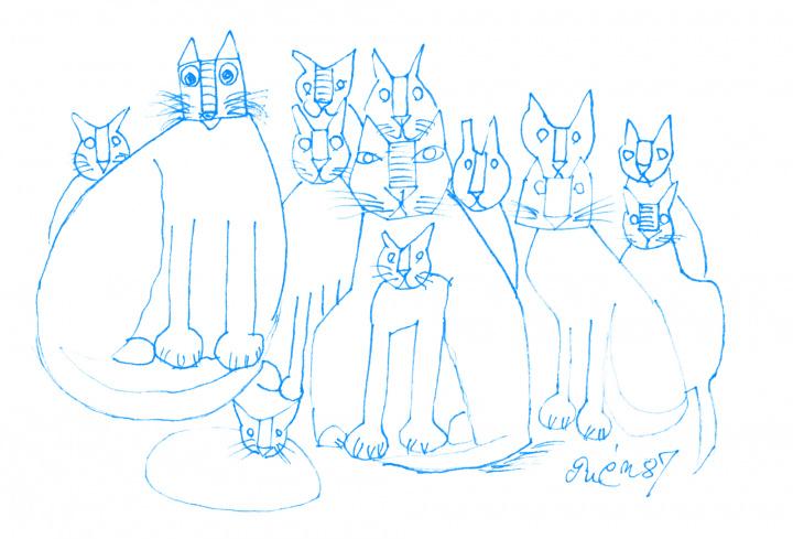 飼い猫の数1ダース⁉  画家・猪熊弦一郎が描いたネコ愛あふれる作品を堪能してみませんか。