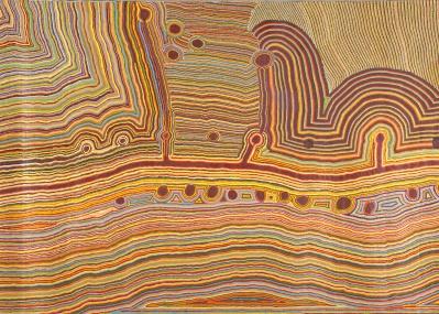 この絵画をどう観るか? 失われた歴史を辿る旅から生まれた、アボリジニ・アート展が熱い!