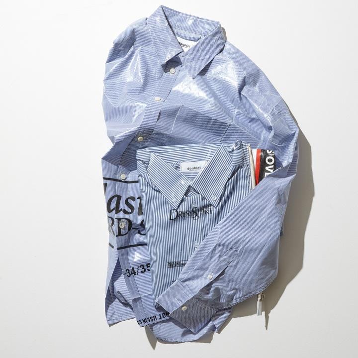 シャツを畳んでクラッチバッグにトランスフォーム !? アートかギャグか、2018年春夏も 「ダブレット」 が絶好調です。
