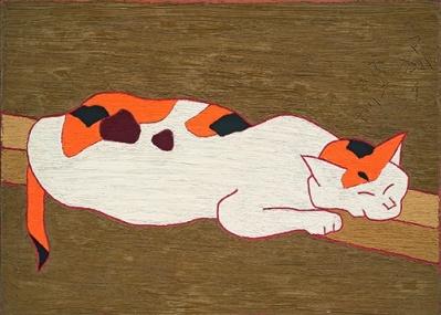 明快な線と色で小動物たちを描いた、熊谷守一の生涯の作品をたどる大回顧展を見逃すな。