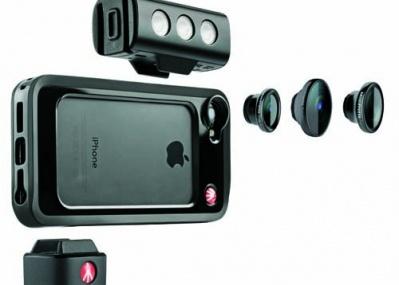 交換レンズで撮影できるiPhone5/5s用ケース「KLYP+」、マンフロットが発売へ。