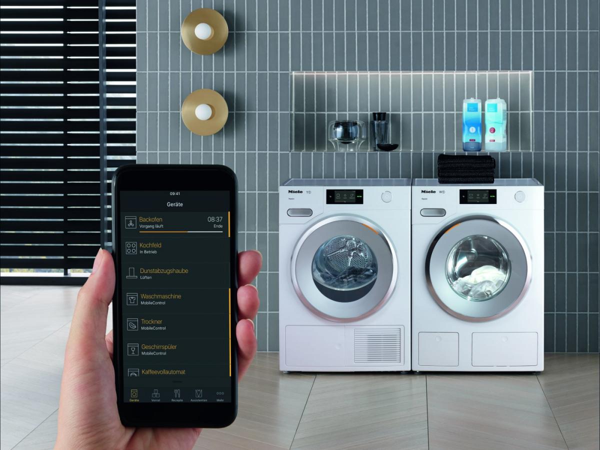 """「どう洗ったらいいのこれ?」はアプリが教えてくれる! Mieleの「W1洗濯機」で、本当の""""スマート""""な洗濯ライフを手に入れよう。"""