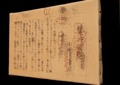 精緻な針金の立体文字で文豪の直筆原稿が迫る、荒井美波の「Trace of Writing」展。