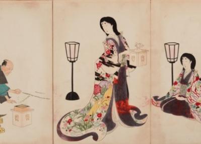 江戸東京博物館で開催中の『幕末の江戸城大奥』展で、華やかな「大奥」に感嘆する。