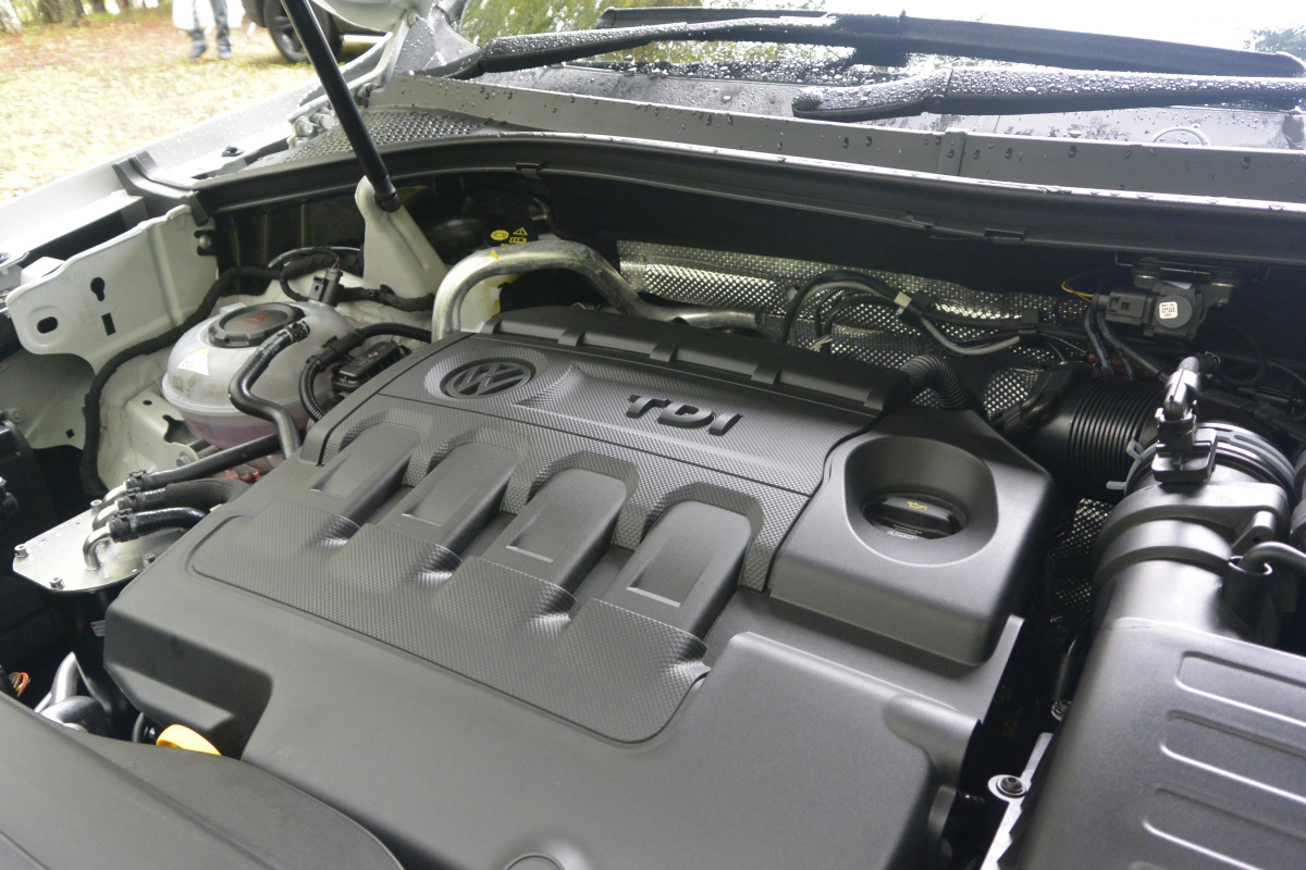 """フォルクスワーゲン「ティグアン」はディーゼルエンジンを搭載して、""""ホンモノ感""""がさらに強まりました。"""
