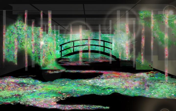 名画『睡蓮の池』がVR ARTとコラボレーション!「Point-Rhythm World−モネの小宇宙−」展が開催中です。