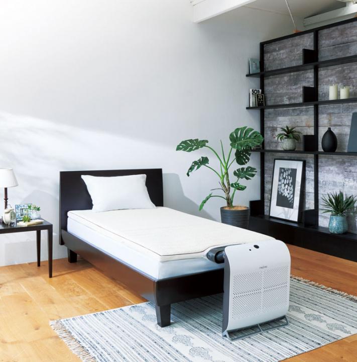 ふとん内の温度をコントロールして、快適な寝心地を。