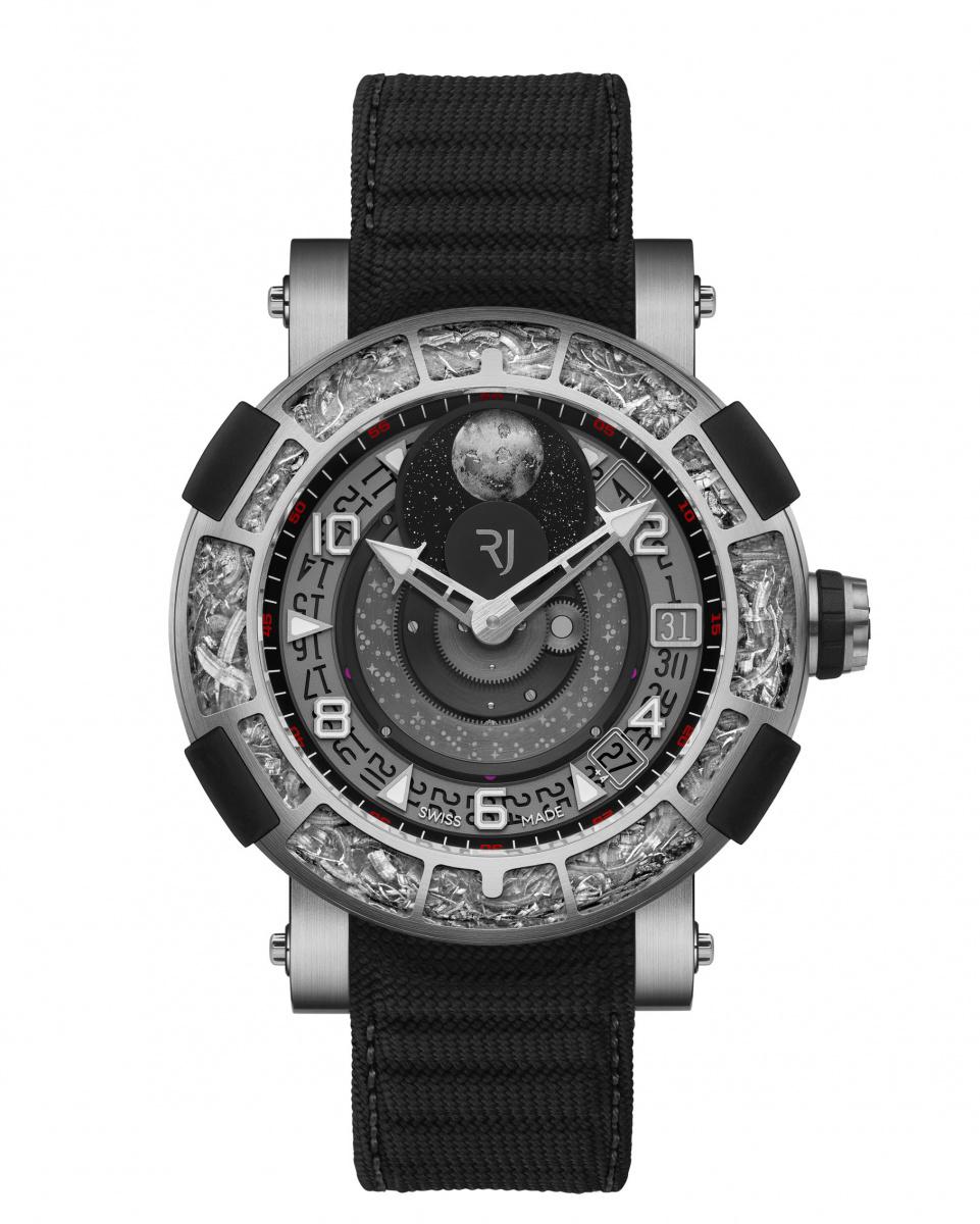 あの「アポロ11号」のパーツをベゼルに使った、超個性派ムーンフェイズの腕時計。