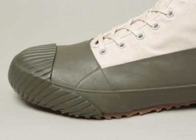 キャンバス×ラバーのミリタリー顔レインスニーカー、「GS Rain Shoes by MOONSTAR」に注目!