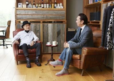 ブランド創設30周年を記念して、タケオキクチが布袋寅泰とコラボレーション