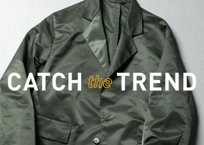 素材はミリタリー風味のサテン、 仕立てはサルトリア的な「ラファーボラ」のジャケット
