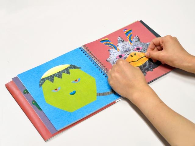 親子で遊べる「かおノート」から、子どもが大好きなモンスターが出ました!