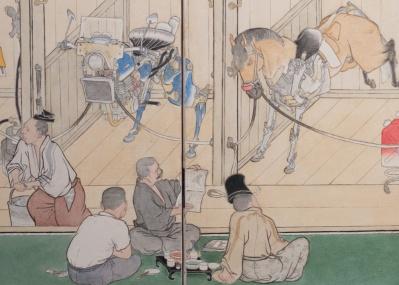 """""""馬づくし""""をご堪能あれ! 横浜・馬の博物館の「馬鑑 山口晃展」がユニークです。"""